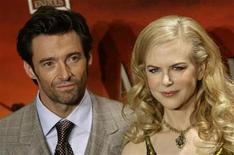 "<p>Actors Nicole Kidman and Hugh Jackman arrive for the premiere of the film ""Australia"" in Madrid December 2, 2008. REUTERS/Juan Medina</p>"