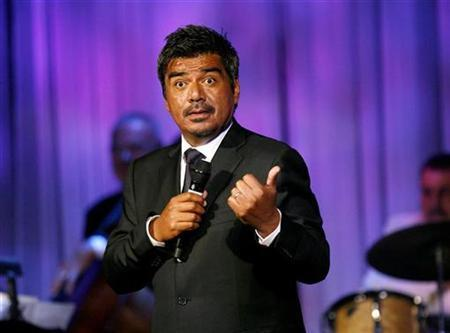 Comedian George Lopez performs at the 53rd annual Thalians gala in Beverly Hills, California in this November 2, 2008 file photo. REUTERS/Mario Anzuoni