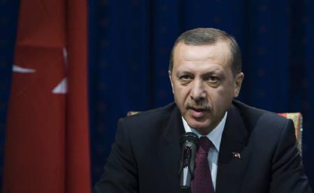Turkey's Prime Minister Tayyip Erdogan speaks during a news conference in Tehran October 28, 2009. REUTERS/Raheb Homavandi