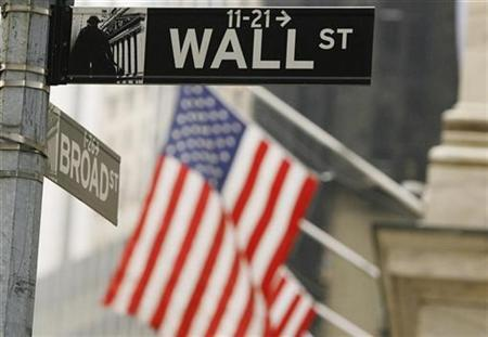 A street sign can be seen outside the New York Stock Exchange in New York in this March 11, 2009 file photo. REUTERS/Lucas Jackson