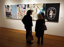 "<p>""Brother Sausage"" di Jean-Michel Basquiat, messo all'asta da Christie's. REUTERS/Chip East</p>"