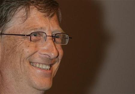 Microsoft founder Bill Gates smiles during a conference in New Delhi July 24, 2009. REUTERS/B Mathur