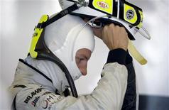 <p>Foto de arquivo de Jenson Button. O atual campeão de Fórmula 1 pela Brawn se juntou a McLaren em acordo para algumas temporadas, afirmou a equipe em comunicado nesta quarta-feira (18). REUTERS/Caren Firouz</p>