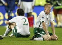 <p>Federação de Futebol da Irlanda pediu à Fifa que determine que a controversa partida contra a França pela repescagem das eliminatórias para a Copa do Mundo seja jogada novamente após gol com jogada de mão de Thierry Henry. REUTERS/Benoit Tessier</p>