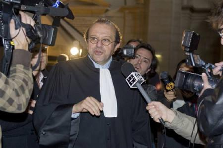 Herve Temime, lawyer of Polish-born film director Roman Polanski arrives at the courthouse in Paris on in this October 23, 2009 file photo for the final day of the ''Clearwater Trial''. REUTERS/Gonzalo Fuentes/Files