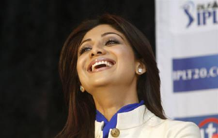 Bollywood star and owner of the Rajasthan Royals cricket team, Shilpa Shetty, addresses a news conference of the Indian Premier League (IPL) T20 cricket tournament in Cape Town in this April 16, 2009 file photo. Shetty married London-based businessman Raj Kundra in a ''fairy-tale wedding'' on Sunday, her spokeswoman said. REUTERS/Mike Hutchings/Files