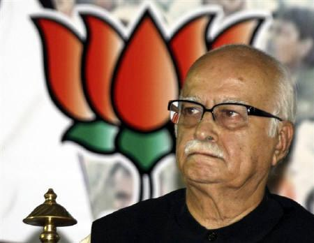 Bharatiya Janata Party (BJP) leader Lal Krishna Advani attends a party meeting in Ahmedabad May 24, 2009. REUTERS/Amit Dave/Files