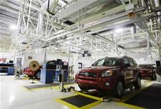 <p>The new Toyota RAV4 is seen at the newly built Toyota automobile assembly plant in Woodstock, about 130 km (81 miles) southwest of Toronto, Ontario, December 4, 2008. REUTERS/Mark Blinch</p>