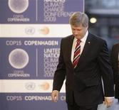 <p>Canadian Prime Minster Stephen Harper arrives at the morning session of United Nations Climate Change Conference 2009 in Copenhagen December 18, 2009. REUTERS/Ints Kalnins</p>