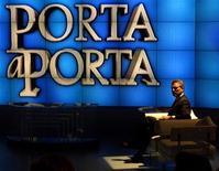 <p>Francesco Rutelli ospite di una puntata di Porta a Porta.</p>