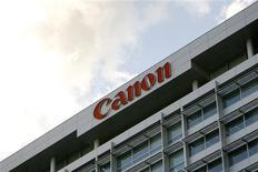 <p>Le japonais Canon prévoit de maintenir sa politique de rémunération des actionnaires malgré son projet d'acquisition du fabricant néerlandais de copieurs Océ. /Photo d'archives/REUTERS</p>