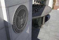 <p>The headquarters of the U.S. Securities and Exchange Commission (SEC) are seen in Washington, July 6, 2009. REUTERS/Jim Bourg</p>
