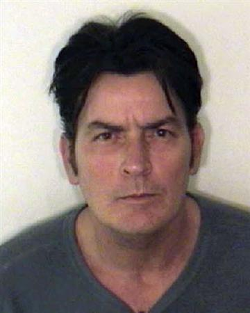 U.S. actor Charlie Sheen is pictured in this handout photo released by the Aspen Police Department on December 25, 2009. REUTERS/Aspen Police Department/Handout