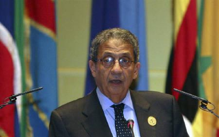 Arab League Secretary-General Amr Moussa in Sirte, about 600km (370 miles) east of Tripoli, July 1, 2009. The United Nations must play a bigger role in trying to resolve the Palestinian-Israeli conflict and the United States should not be the only mediator, a senior Arab official said. REUTERS/Ismail Zetouny/Files
