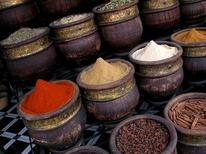<p>Spices for sale in Marrakesh March 31, 2008. REUTERS/Thomas White</p>