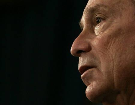 New York Mayor Michael Bloomberg  in New York October 2, 2008. New York City Mayor Michael Bloomberg pledged on Friday to promote a more open U.S. immigration policy during his third term, much as he made a campaign against illegal guns a hallmark of his second term. REUTERS/Shannon Stapleton/Files