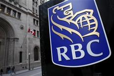 <p>A Royal Bank of Canada (RBC) logo is seen at a branch in Toronto in this November 9, 2007 file photo. REUTERS/Mark Blinch</p>