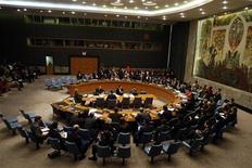<p>Заседание Совета Безопасности ООН в Нью-Йорке 30 сентября 2009 года. Представители мировых держав соберутся в Нью-Йорке в субботу, чтобы обсудить возможные новые санкции против Ирана в связи с его ядерной программой, сообщили дипломаты. REUTERS/Shannon Stapleton</p>