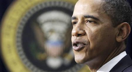 1月14日、オバマ米大統領が金融機関からの手数料徴収を提案(2010年 ロイター/Larry Downing)