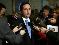 <p>Minister of Citizenship, Immigration and Multiculturalism Jason Kenney speaks to media following Question Period in the House of Commons foyer on Parliament Hill in Ottawa May 5, 2009. REUTERS/Blair Gable</p>