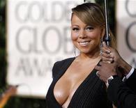 <p>La cantante y actriz Mariah Carey arriba a la entrega número 67 de los premios Globos de Oro en Beverly Hills, ene 17 2010. REUTERS/Mario Anzuoni (UNITED STATES)</p>