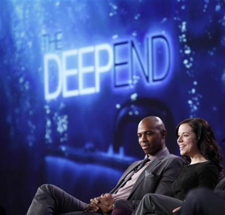 Cast members Mehcad Brooks (L) and Tina Majorino of the series ''The Deep End'' participate in a panel discussion at the Disney ABC winter 2010 Television Critics Association press tour in Pasadena, California, January 12, 2010. REUTERS/Danny Moloshok