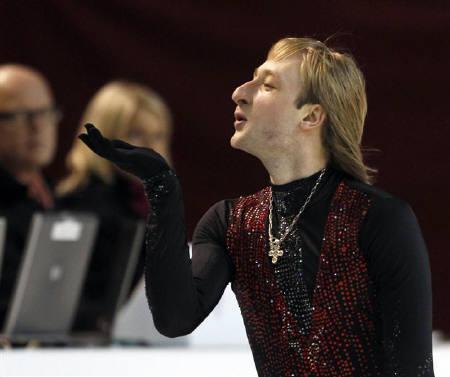 1月21日、フィギュアの欧州選手権でロシアのプルシェンコが優勝(2010年 ロイター/Grigory Dukor)