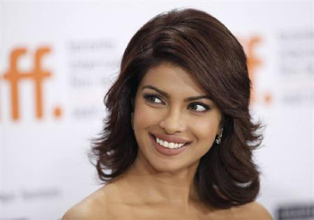 Bollywood actress Priyanka Chopra speaks during the 34th Toronto International Film Festival, September 18, 2009. REUTERS/Mark Blinch/Files