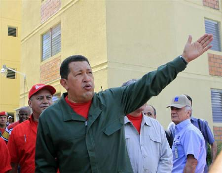 Venezuela's President Hugo Chavez attends his weekly broadcast ''Alo Presidente'' in Portuguesa, about 350 km (217 miles) west of Caracas in this November 8, 2009 file photo. REUTERS/Miraflores Palace/Handout/Files