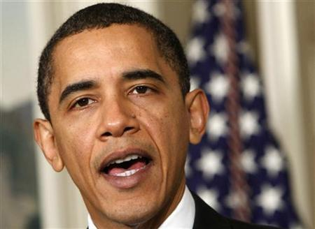 President Barack Obama makes an announcement on government efficiency at the White House in Washington in this December 21, 2009 file photo. REUTERS/Jim Young