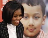 <p>28 gennaio 2010. Michelle Obama durante il suo discorso sui pericoli dell'obesità. REUTERS/Jason Reed</p>