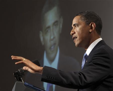 President Obama speaks at the GOP House Issues Conference in Baltimore, January 29, 2010. REUTERS/Larry Downing