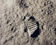 "<p>This NASA file image, dated July 20, 1969, shows one of the first footprints of Apollo 11 astronaut Edwin ""Buzz"" Aldrin on the moon. The Apollo 11 crew consisted of astronauts Neil Armstrong, who was the Mission Commander and the first man to step on the moon, Aldrin, who was the Lunar Module Pilot, and Michael Collins, who was the Command Module pilot. REUTERS/NASA/Handout</p>"