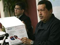<p>Il presidente venezuelano Hugo Chavez. REUTERS/Miraflores Palace/Handout</p>