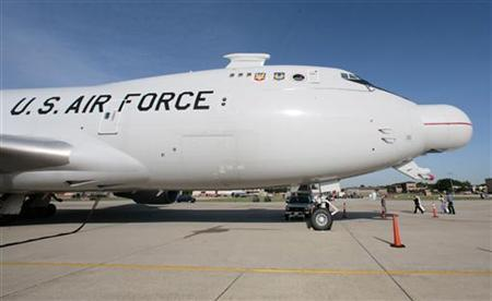 The U.S.A.F. Airborne Laser aircraft sits on the tarmac at Andrews Air Force Base outside Washington, June 21, 2007. REUTERS/Larry Downing