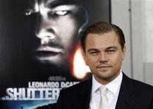 "<p>Actor Leonardo DiCaprio poses on the red carpet as he arrives at the premiere of the movie ""Shutter Island"" in New York February 17, 2010. REUTERS/Natalie Behring</p>"