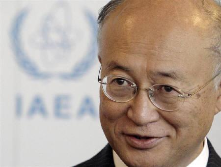 Newly-elected Director General of the International Atomic Energy Agency (IAEA) Yukiya Amano of Japan attends a meeting at Vienna's UN headquarters July 3, 2009.REUTERS/Herwig Prammer/Files
