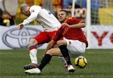 <p>Un momento della partita Roma-Catania all'Olimpico. REUTERS/Giampiero Sposito</p>