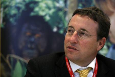 Achim Steiner, the executive director of the U.N. Environment Program, speaks during a conference at the International Union for Conservation of Nature (IUCN) World Conservation Congress in Barcelona in this October 6, 2008 file photo. REUTERS/Albert Gea/Files