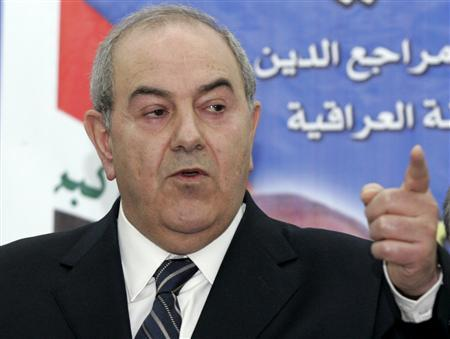 Iyad Allawi, a former prime minister and head of the secular Iraqiya list, speaks during a news conference in Baghdad February 23, 2010. REUTERS/Mohammed Ameen