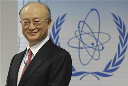 International Atomic Energy Agency IAEA Director General Yukiya Amano smiles during a news conference after a board of governors meeting in Vienna March 1, 2010. REUTERS/Stringer