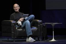 <p>Steve Jobs, amministratore delegato di Apple, in foto d'archivio. REUTERS/Kimberly White</p>
