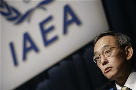 United States Secretary of Energy Steven Chu makes a speech at the 53rd International Atomic Energy Agency IAEA General Conference in Vienna September 14, 2009 file photo. REUTERS/Herwig Prammer