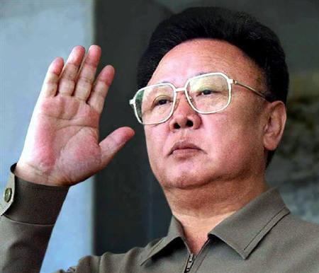 North Korean leader Kim Jong-il returns a salute as he reviews a military parade in Pyongyang in this October 10, 2005 file photo. REUTERS/Korea News Service/Files