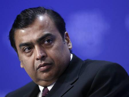 Mukesh D. Ambani, Chairman and Managing Director, Reliance Industries, India, is seen in Davos in this January 29, 2009 file photo. REUTERS/Denis Balibouse/Files