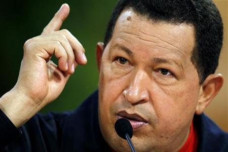 Venezuelan President Hugo Chavez attends a news conference at Miraflores Palace in Caracas in this February 25, 2010 file photo. REUTERS/Jorge Silva