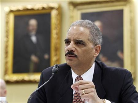 Attorney General Eric Holder testifies at the House Appropriations Committee on Capitol Hill in Washington, March 16, 2010. REUTERS/Larry Downing