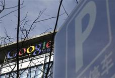 <p>Il logo di Google, alla sede di Pechino. REUTERS/Jason Lee</p>