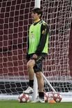 <p>Kaká durante treino do Brasil no Emirates Stadium, em Londres, em março. REUTERS/ Eddie Keogh</p>