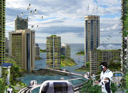 A computer-generated image  shows Gold Coast in Queensland, Australia circa 2050. REUTERS/Arup's proposal for the Australian Institute of Architects' Venice Biennale exhibition/Handout